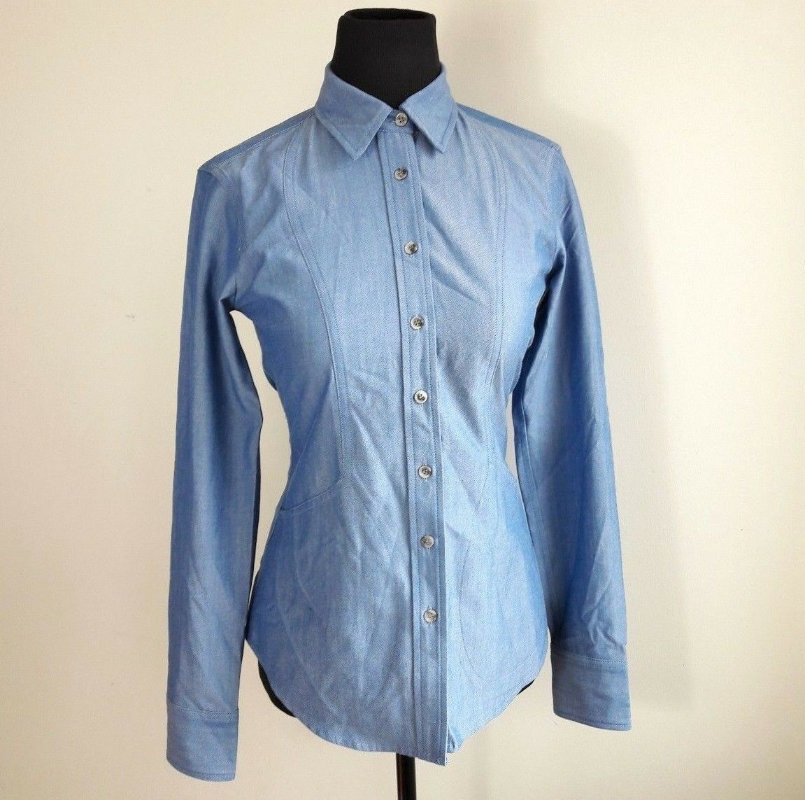 The Willary Blau Button Down Shirt Long Sleeve damen XS, M, L, XL NWOT