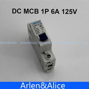 1P 6A DC 125V Circuit breaker MCB