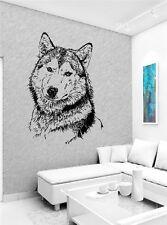 Wolf Head Wild Animal Wall art Sticker Decal g172