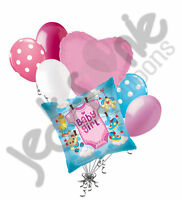 7 Pc Baby Girl Pink Onesie Balloon Bouquet Decoration Party Shower Welcome Home