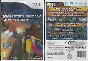 Nintendo-Wii-gioco-WHEELSPIN-A-TUTTO-GAS-racing-in-italiano-Nuovo-Sigillat