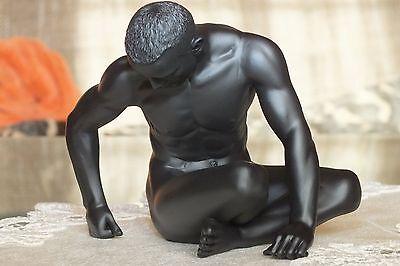 akt,mann,schwarz,13x10,5cm,figur,,erotik,männerakt,Nude Men,act,men