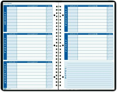House of Doolittle Non-Dated Student Planner//Assignment Book