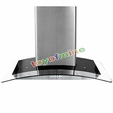 "New 36"" inch Wall Mount Glass Stainless Steel Range Hood Stove Vent"