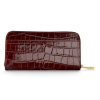Aspinal Of London Continental Clutch Zip Wallet. Amazon Croc. Lmm Embossed.