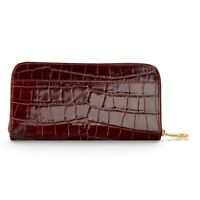 Aspinal Of London Continental Clutch Zip Wallet. Amazon Croc. Sem Embossed.