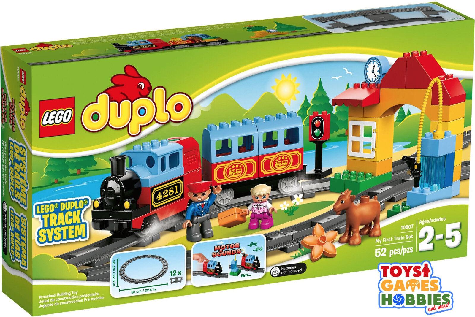 NUEVO  Conjunto de Tren De Lego Duplo Mi Primer Sonidos del motor de 10507-carril de pista motor de vapor