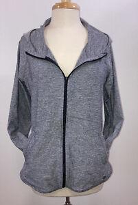 Athleta Heather Baja Jacket UPF 50+ Size Medium Beach Sweatshirt Hood Zip Up