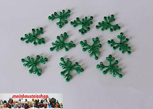 10X Lego® 2417 Pflanzen Große Blätter Plant Leaves 6X5 Grün Green NEU