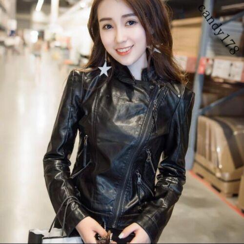 à fit à manches de longues moto slim zippées femmes longues manches Manteau pour qItOS