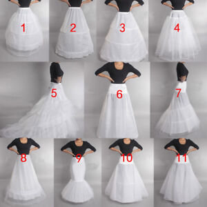 Prom-Dress-Bridal-Slip-Hoop-Skirt-Wedding-Petticoat-Underskirt-Crinoline
