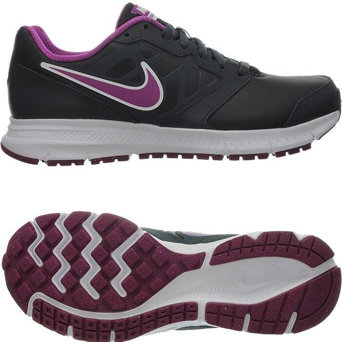 Nike Downshifter 6 LEA nero nero nero rosa Donna  Running-scarpe smooth leather NEW 1c6aa5