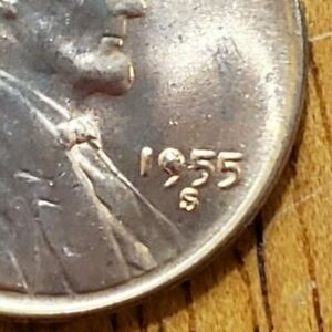 1955-S-Lincoln-Cent-Die-Chip-OBV-KM-132-AA126-8