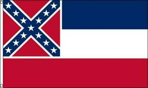 NEW-3-039-x5-039-MISSISSIPPI-State-Flag-amp-AMERICAN-Flag-Polyester