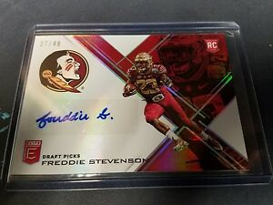 2017 ELITE draft picks auto Red /49 Freddie Stevenson FSU