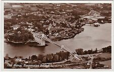Aerial View, Menai Suspension Bridge, MENAI STRAITS, Isle Of Anglesey RP