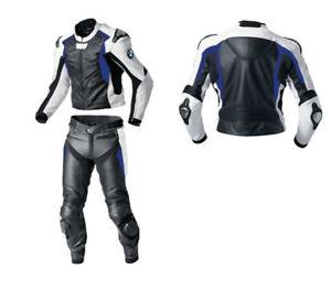 BMW-Hommes-Courses-Combinaison-de-Moto-en-Cuir-Moto-en-Cuir-Veste-Pantalon