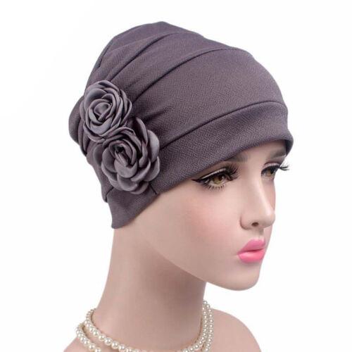 Frauen Hijab Turban Hut Lady Cancer Chemo Haarausfall Cap Kopftuch WrapPDH