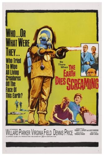 """THE EARTH DIES SCREAMING SCI-FI MOVIE POSTER 12/"""" x 18/"""""""