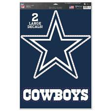 """Dallas Cowboys 11"""" x 17"""" Multi Use Decals - Auto, Walls, Windows, Cornhole"""