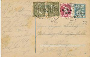 DT. Reich 1922 30 PF Bavaria overpressure GA-Answer-Postcard COMPLETE (Michel € 75)