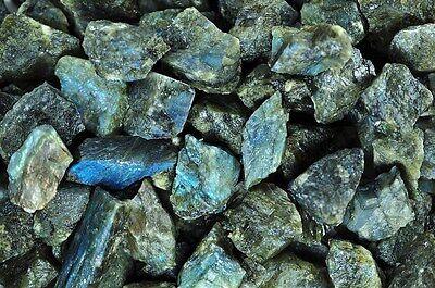 1 Pound of 'A' Grade Labradorite Rough - Cabbing, Tumble Rocks, Wrapping, Reiki