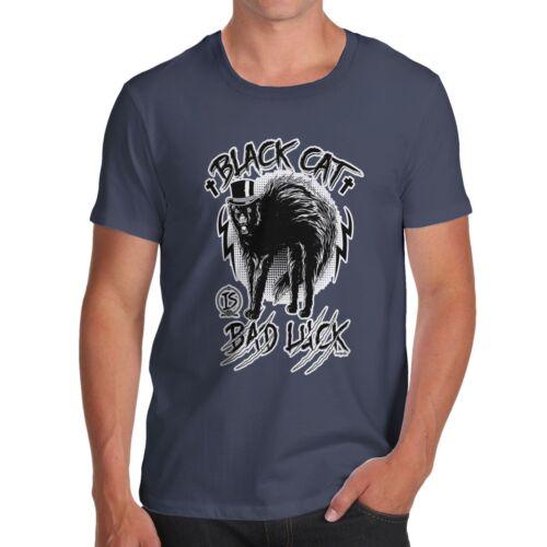 Men/'s Premium Coton Drôle superstition Black Cat malchance Imprimer T-Shirt