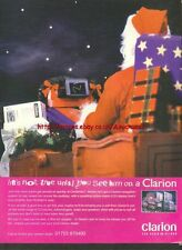 """Clarion Car Audio """"Santa"""" 1996 Magazine Advert #958"""