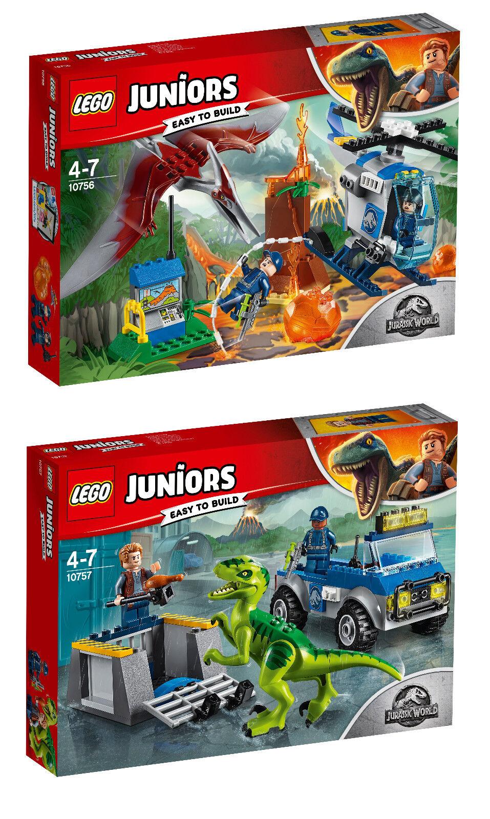 LEGO® Juniors 10756 Flucht vor dem Pteranodon & 10757 Raptoren Rettungstransport