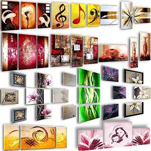 Quadri a scelta dipinti a mano 3 pezzi astratti design moderni arredamento casa ebay - Quadri arredamento casa ...