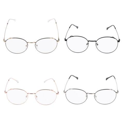 Vintage Lightweight Round Thin Rim Metal Frame Clear Lens Eyeglass for Women
