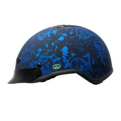 Flat Black Flame Rodia RHD200 Half Motorcycle Helmet
