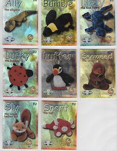 TY-Beanie-Babies-SERIES-2-FOIL-CARDS-RETIRED-FOIL-PRINT-CHOOSE