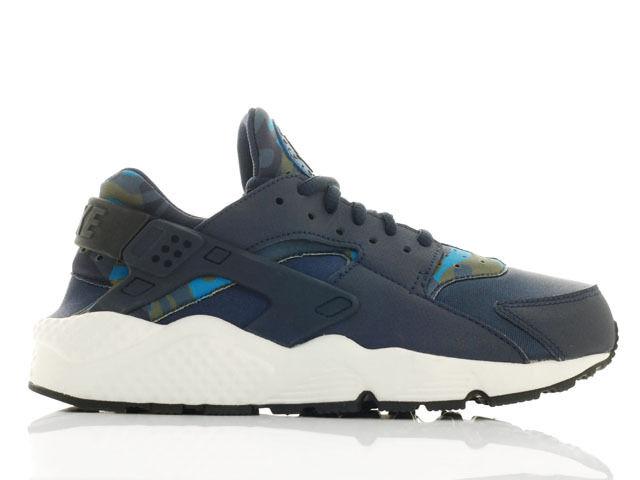 Nike air huarache courir print camo femme baskets-bleu/noir 725076 400-uk 5-