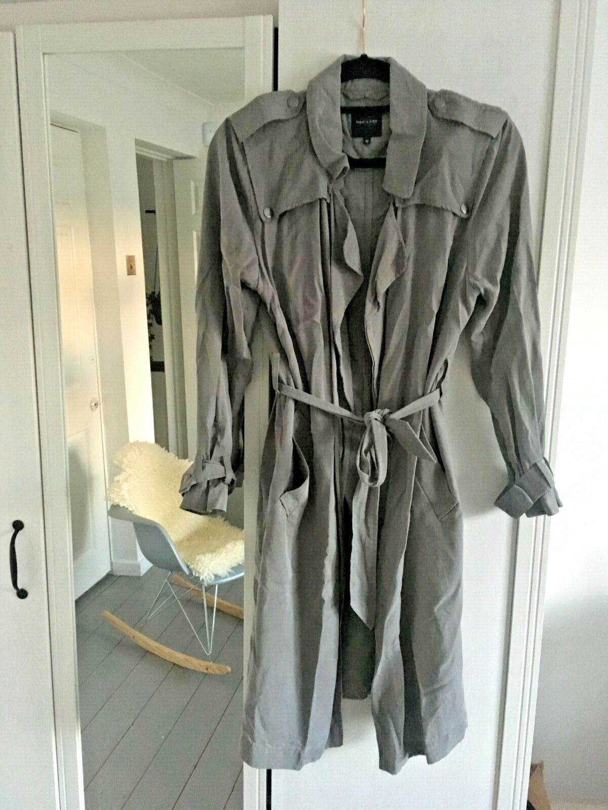 New Look dusty grey trench duster coat. Size 12. SOLD OUT.