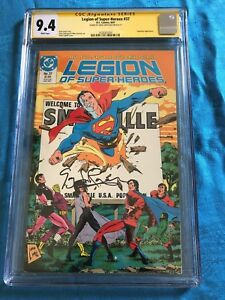 Legion-of-Super-Heroes-37-DC-CGC-SS-9-4-NM-Signed-by-Greg-Larocque