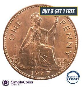 1953 à 1967 elizabeth ii penny/pennies choix de l'année/date