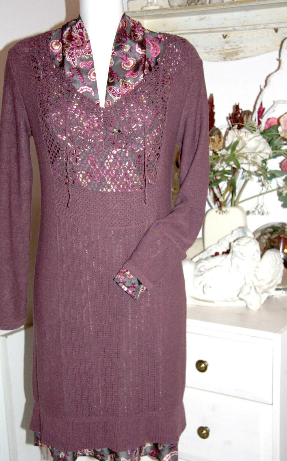 Noa Noa  Strick Kleid  Langarm Dress Vienna Knit Dark Fawn   Größe  S Neu