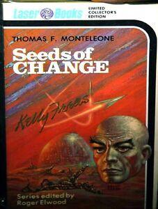 KELLY FREAS SIGNED HARLEQUIN LASER PAPERBACK BOOK # 0 SEEDS OF CHANGE FINE