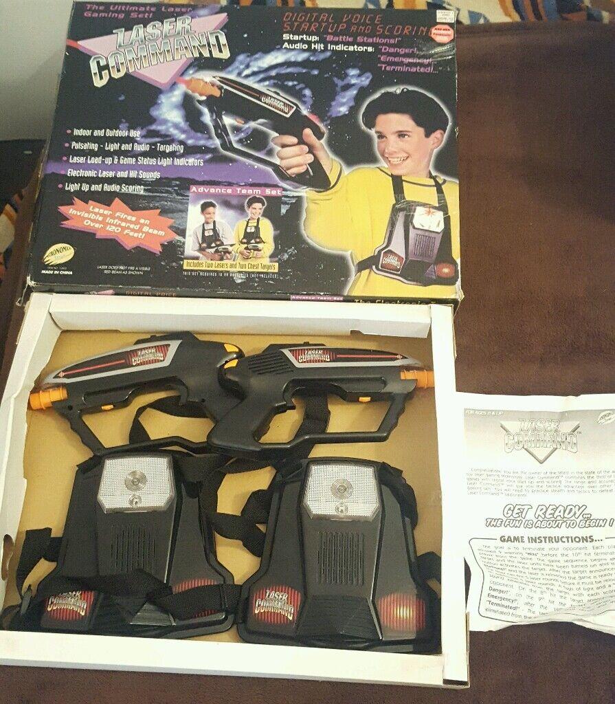 Vintage - kommando elektronische tag spiel team hat 1997 getestet w   box & handbuch