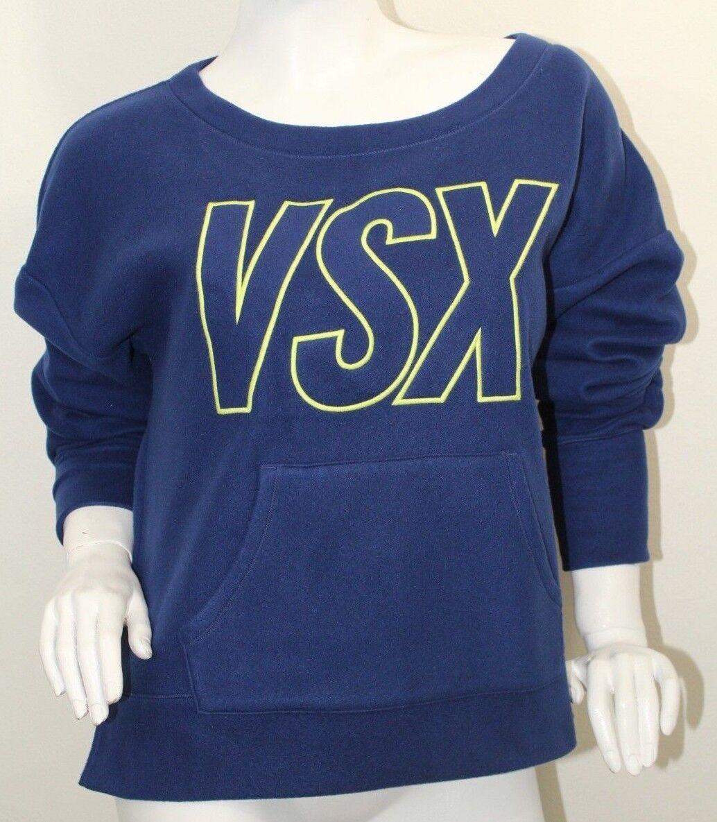 Victoria's Secret VXS Sport Soft Fleece Sweatshirt Blau Sz XS,S,Med,Large NWT