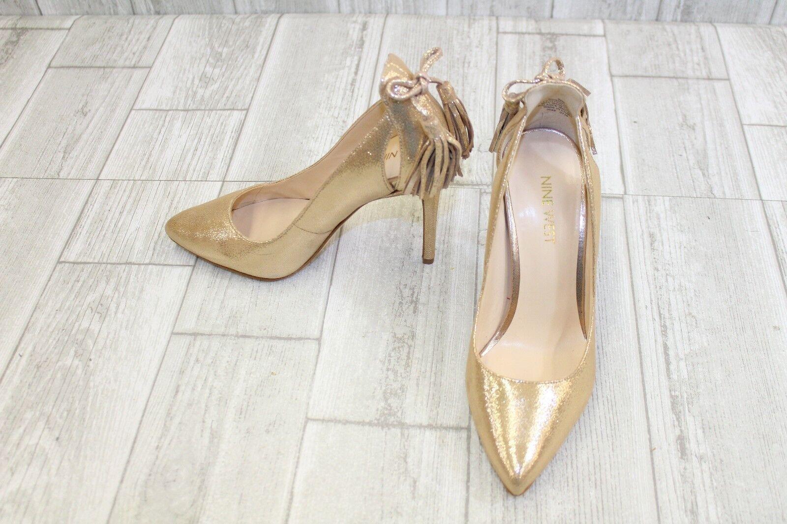 Nine West Erienne Heels - Women's Size 5.5M, Gold
