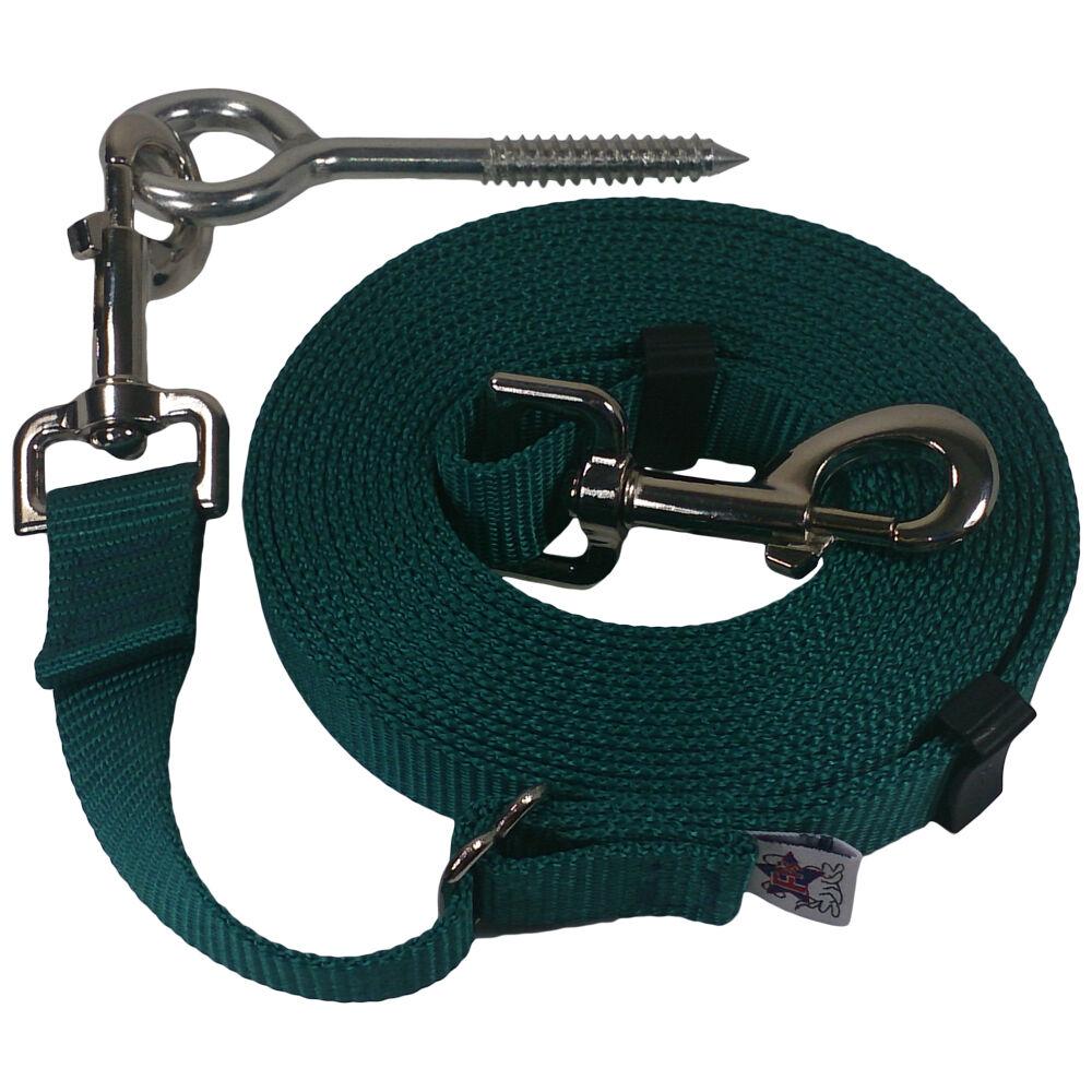 Beast-Master Adjustable 1  Nylon Dog Tether w Lag Screw