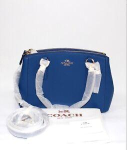 Coach-Mini-Christie-Bright-Mineral-Crossgrain-Leather-Blue-Bag-COD-PayPal