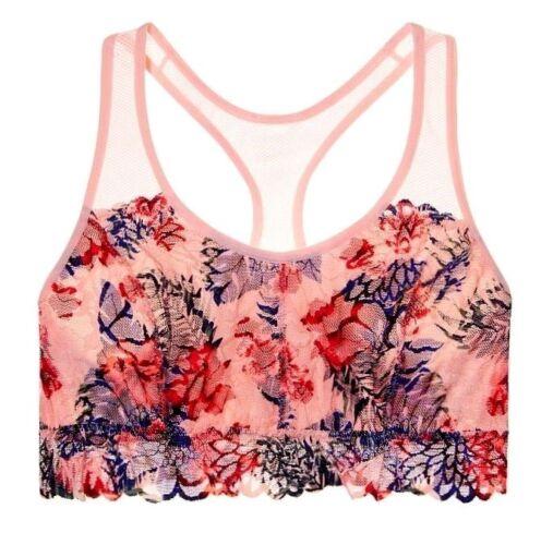 NWT Victorias Secret PINK Euphoria Floral Lace Racerback Bralette Bra XS S