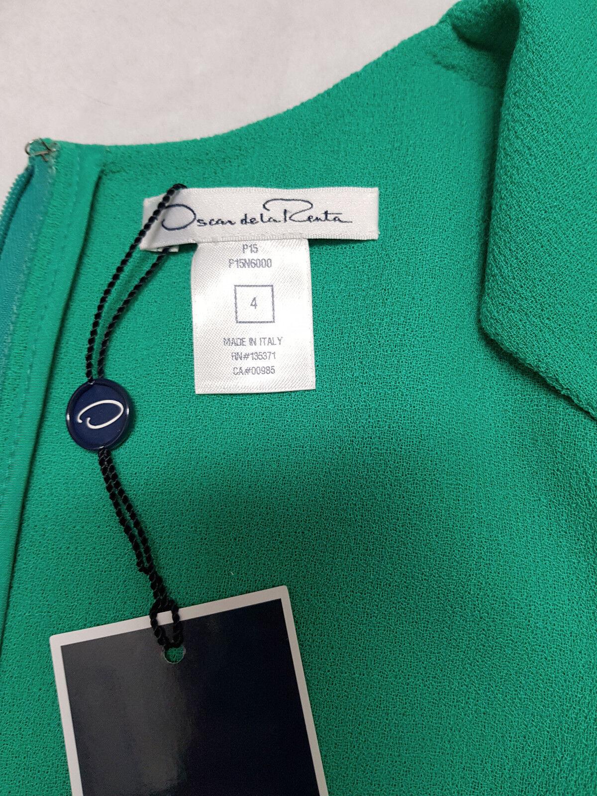 NWT  2.4K Oscar de la Renta  Asymmetric Asymmetric Asymmetric Scarf-Hem Dress, Jade, size 4 c9a7c0