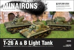 Details about Minairons 1:100 T-26 mod A&B (5 tanks) - 15mm Spanish Civil  War, WWII