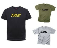Army or Marines Day Boot Camp Tee Kids Physical Training Gym PT T-Shirt
