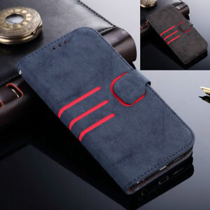 Retro-Leather-Magnetic-Flip-Wallet-Slim-Case-Cover-For-Samsung-Galaxy-S9-S8-S7