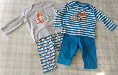 Girls Disney Winnie the Pooh Tigger Baby Pyjamas Pajamas PJs 0-36 Months